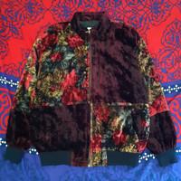 jacket vintage the moon floral roses