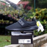 Sepatu sneakers adidas cf lite racer adapt triple black original