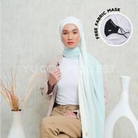 Hijab Pashmina Ombre Crinkle Chiffon Premium Safaa JADE - Yucca Modest