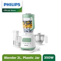Philips Blender 2L Plastic - Dessert Green + Multi Accessory HR2223/30