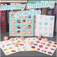 Memory Matching Game (Mainan Edukasi Anak - 6 gambar)