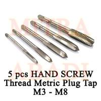 Hand Tap & Hand Screw Thread Metric Plug Tap M3-M8