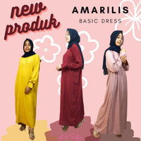 Dress Muslim Busui Amarilis Homedress Gamis Tangan Kerut Bahan Rayon
