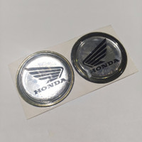 emblem timbul honda wings sayap bulat sepasang sticker stiker motor