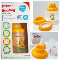 Botol Minum Bayi PIGEON Magmag All in One Set Training Cup-3+mounth