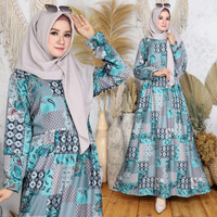 Baju Gamis Maxi Dress Ilon Hijabers Muslim - Ilon Tosca