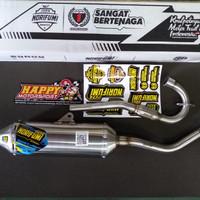 knalpot racing norifumi roket 4 stanlise kawasaki klx 150