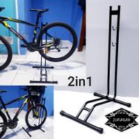 paddock sepeda 2in1 universal / standar sepeda / pedok