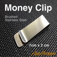 Money Clip Stainless Steel BRUSHED Penjepit Uang Klip 7cm x 2cm