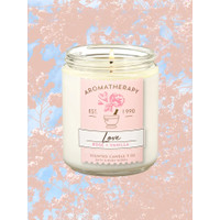 BBW Bath and Body Works Aromatherapy ROSE VANILLA Single Wick Candle