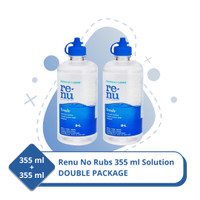 Bausch and Lomb Buy 1 Get 1 Cairan Softlens Renu No Rub 355ml