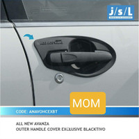 Paket Cover handle pintu + outer mangkok hitam JSL All New Avanza