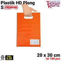 Kantong Plastik HD Plong 20x30 CM Shopping Bag Online Shop Pilih warna - 2.ORANGE