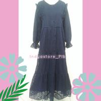 Aisyah Gamis Brukat Dress