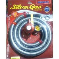 SELANG GAS PAKET REGULATOR + METER WINN SILVER GAS / WIN GAS