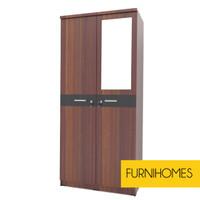 """Furnihomes Lemari Pakaian 2 Pintu """" Canopus """" - TEAK"""