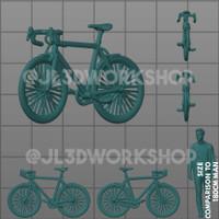 JL3D Motor Skala 1/64 Sepeda Bike A utk Hotwheels Mini GT Tarmac