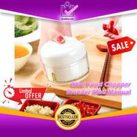 Mini Food Chopper Alat Pencacah Manual Sayuran Bawang Putih DLL 0671