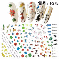 Sticker Thema Natal nail art Sticket Merry Christmas - 275