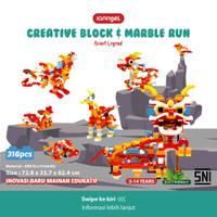 IQAngel Creative Block & Marble Run Toys Beast Legend / Lego Block