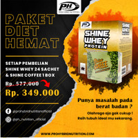 DISKON SPESIAL NOVEMBER !!! SHINE WHEY 24 SACHET & SHINE COFFEE 1 BOX