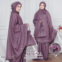 Mukena Aluna Bordir Manual / Mukena Jumbo - Lavender