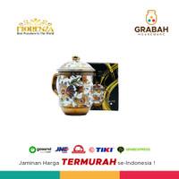 Fiorenza Gelas Minum / Gelas Souvenir Mug W/LID Gold Porselen AK-775