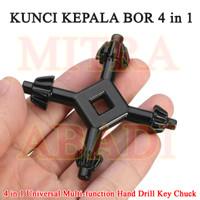 Kunci Kepala Bor 4 Cabang / Drill Chuck Key 4 IN 1 UNIVERSAL