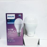 Lampu led bulb philips 14,5 watt lampu bohlam led 14.5 w putih 6500 k