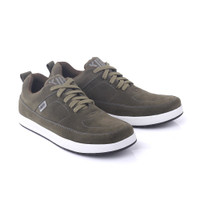 Sepatu Casual Pria Kuzatura Hijau Olive Bahan Kulit Suede Size 39 - 44 - 39