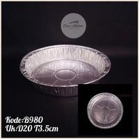 Alumunium Foil Round B980 D20CM (100pcs)