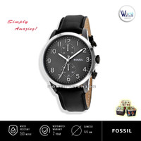 Jam Tangan Pria Fossil FS-4972 Townsman Chronograph Dial Black Leather