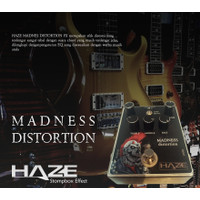 Efek Gitar Distorsi Haze Madness Distortion Stompbox