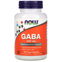 NOW Foods GABA 500 MG - 100 VCAPS Neurotransmitter Support with B-6