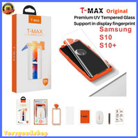 Anti Gores T-Max UV Tempered Glass Full Glue Samsung Galaxy S10 / S10+ - S10