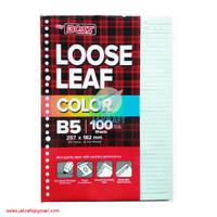 Kertas Binder Note Loose Leaf B5 isi 100 Warna Biru Pastel 26 Lubang
