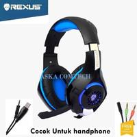 Headset Gaming Rexus F55 Vonix Profesional Gaming (biru)