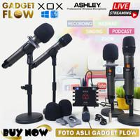 PAKET Microphone Mic Wireless 4 Orang + XOX KS108 Bigo Live Stream