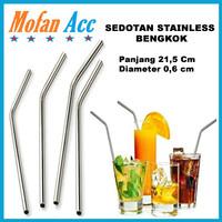 Sedotan Stainless Steel Bengkok Straw Sedotan Bengkok Ramah Lingkungan