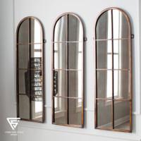Cermin dinding jati cermin kaca cermin 170x65cm KODE CK031