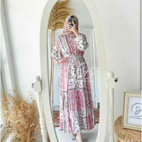 Gamis Bangkok Bunga / Gamis Rayon Viscone / Homey Dress / Homeydress