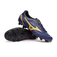 Sepatu Bola Mizuno Monarcida Neo Select Blue Navy Gold