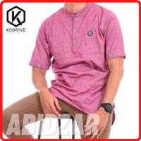 Baju Koko Kaos Kobrave Abidzar Jumbo Size 2XL-4XL Kurta Premium Asli