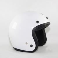 Helm Anak Bogo Retro Original SNI All Colour - White, 8-10th||54-56cm