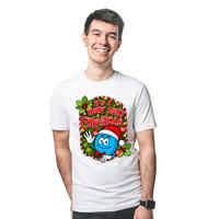 Baju Kaos T-Shirt Distro Christmas Edition Pria Wanita - Biru Ori