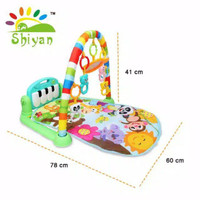 [Shiyan] baby gym musical set musik bayi playmat matras mainan piano