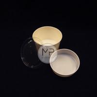 Paper Bowl Mangkok kertas / Paperbowl 800ml 27Oz + TUTUP + INNER TRAY