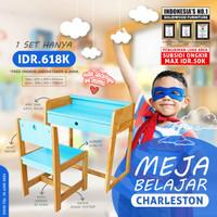 Meja Belajar Anak Meja dan Kursi Belajar Charleston Biru
