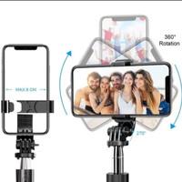 Tripod Selfie Stick 4 In 1 L02 Tongsis HP + Remote Bluetooth