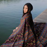 kain tenun ikat blanket etnik lombok original handmade TB067